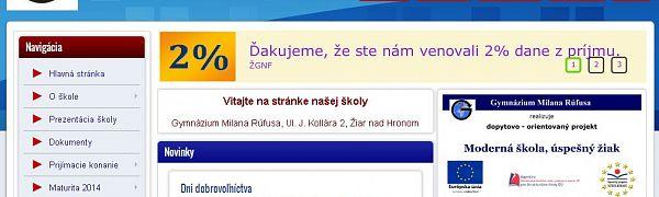 Gymnázium Milana Rúfusa Žiar nad Hronom